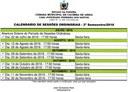Câmara define Calendário das Sessões Ordinárias para o 2º Semestre de 2016
